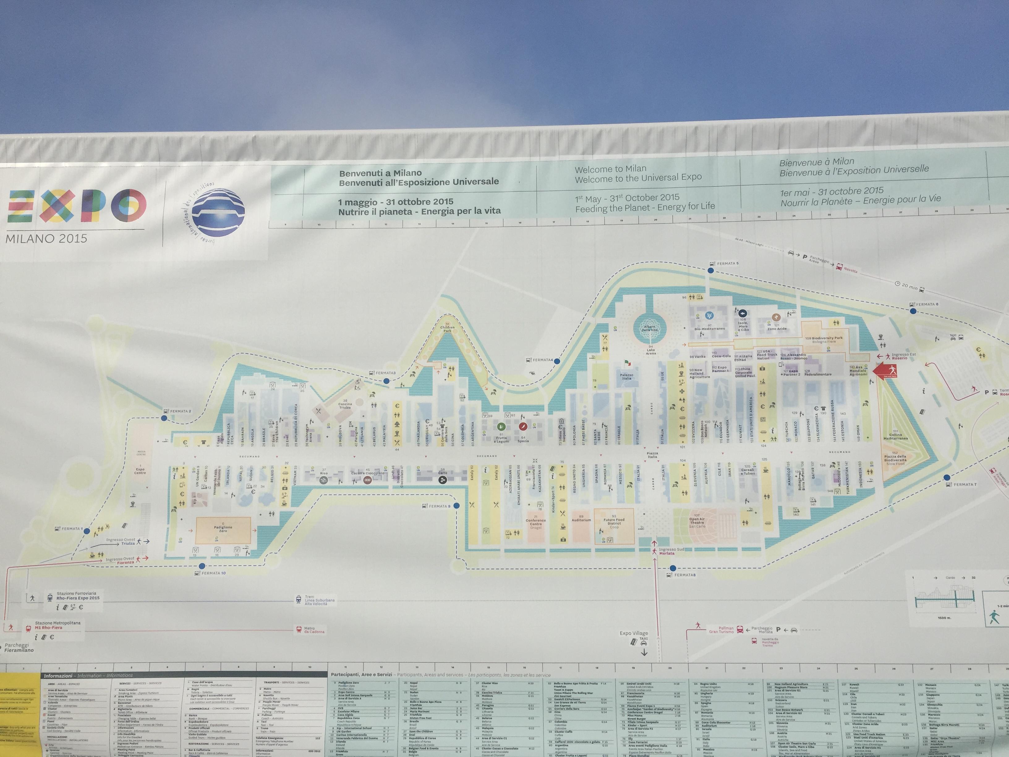la mappa dell'Expo2015